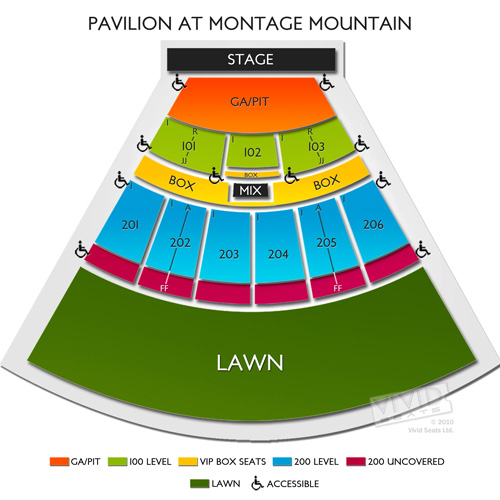 The Pavilion At Montage Mountain Seating Chart
