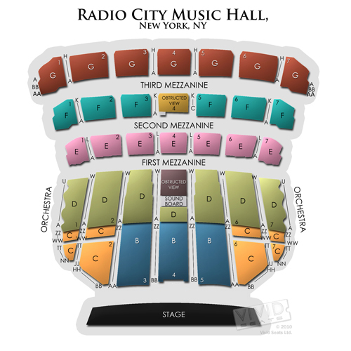 Radio City Music Hall A Seating Guide For The New York Landmark Vivid Seats