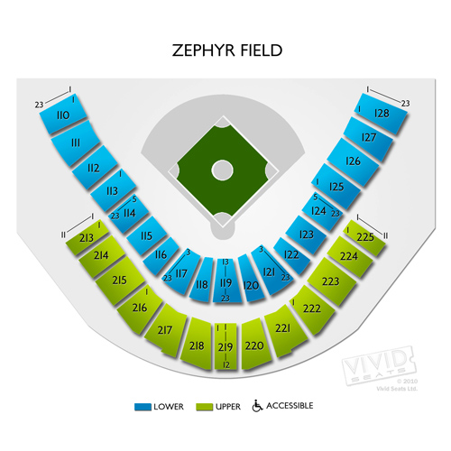 Zephyr field seating chart shrine on airline new orleans
