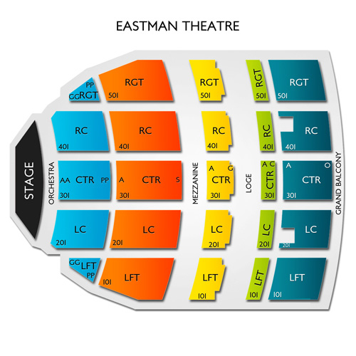 Eastman Theatre Seating Chart Vivid Seats