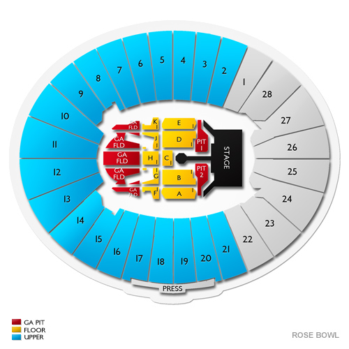 Rolling stones rose bowl tickets pasadena 5 11 2019 100 buyer