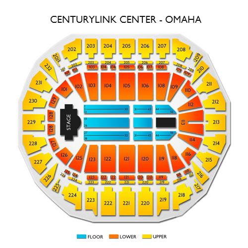 Centurylink center omaha ne seating chart stage omaha theater