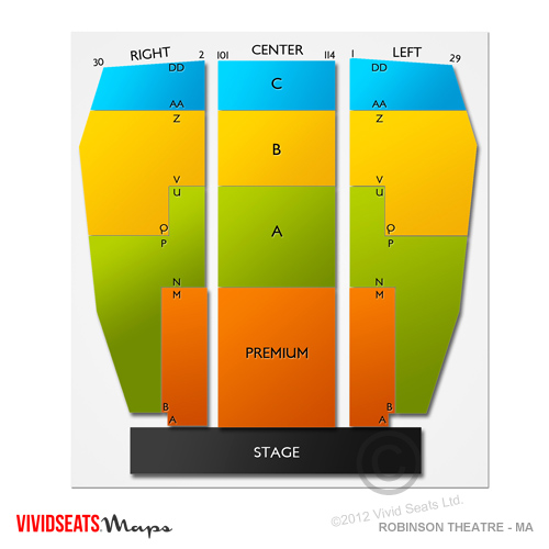 robinson theatre ma seating chart vivid seats. Black Bedroom Furniture Sets. Home Design Ideas
