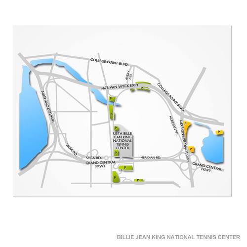 US Open Tennis Parking In Flushing 8282018 701 PM Vivid Seats - Us Open Tennis Map