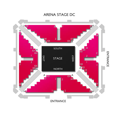 Arena theater seating chart august 2018 discount