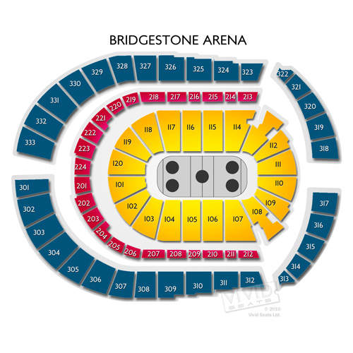 Bridgestone Arena Map Bridgestone Arena Concerts: Guide to Seating in Nashville | Vivid  Bridgestone Arena Map