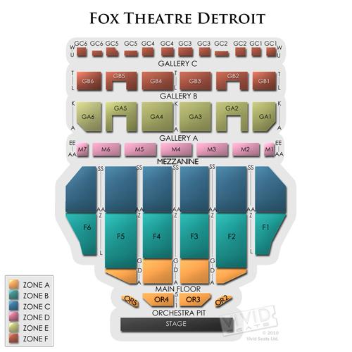Fox Theatre Detroit Tickets 226 Fox Theatre Detroit
