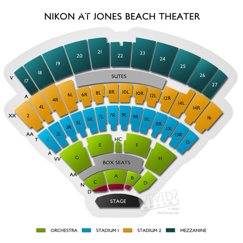 Northwell Health At Jones Beach Theater Concert Tickets And Seating