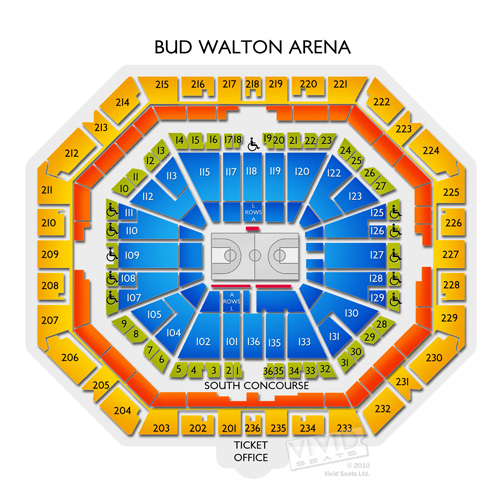 Bud Walton Arena Seating Chart Vivid Seats