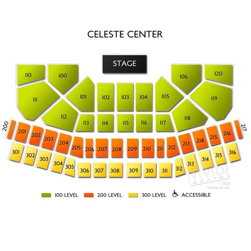 Celeste Center Seating Chart Vivid Seats
