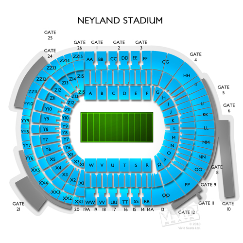 neyland stadium terrace seating chart: Tennessee vols vs tbd tickets 9 7 2018