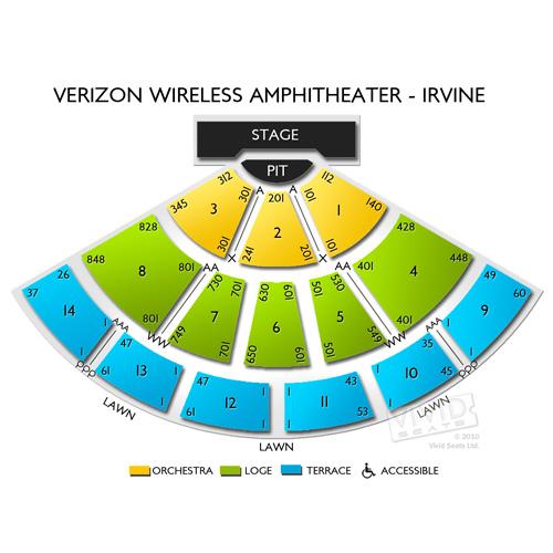 Verizon Amp Irvine Seating Chart