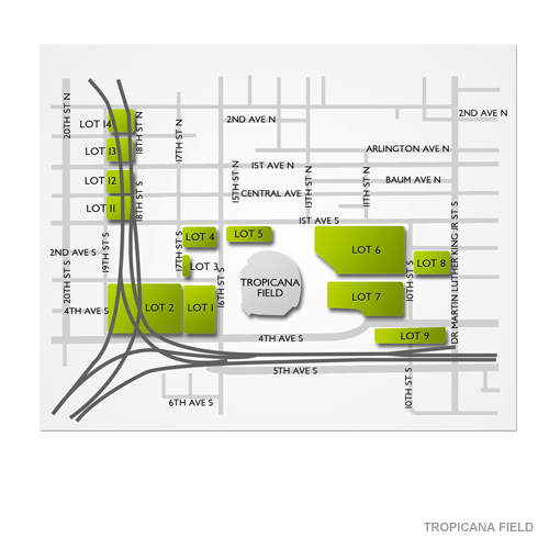 Tropicana Parking Map