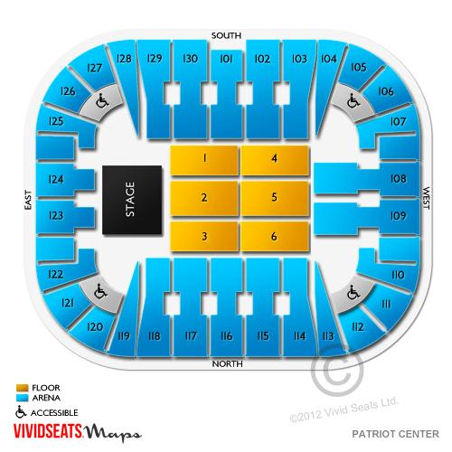 EagleBank Arena Tickets - EagleBank Arena Seating Chart ...
