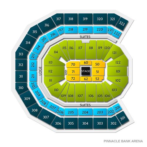 map of pinnacle bank arena lincoln ne
