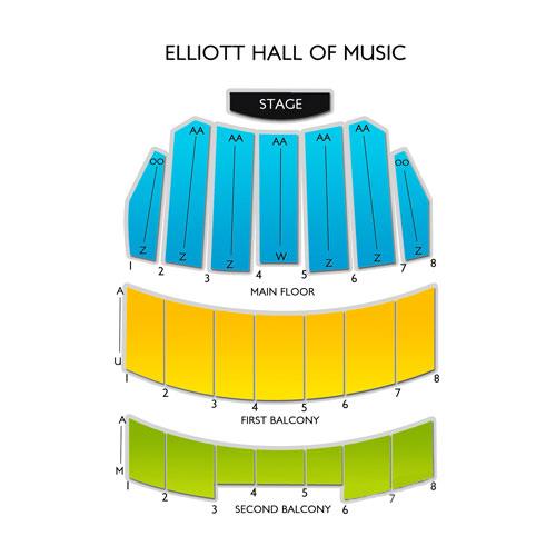 Elliott Hall Of Music Seating Chart | Vivid Seats