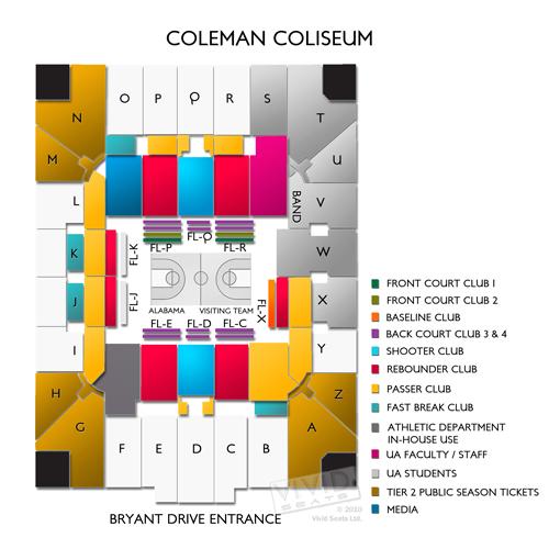 Coleman Coliseum Tickets - Coleman Coliseum Seating Chart