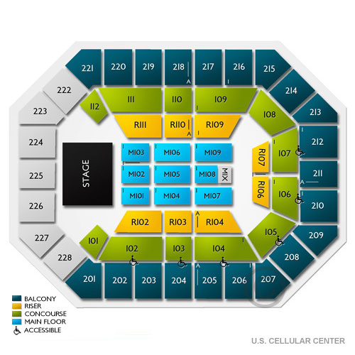 Chris Young Cedar Rapids Tickets PM Vivid Seats - Us cellular center seat map