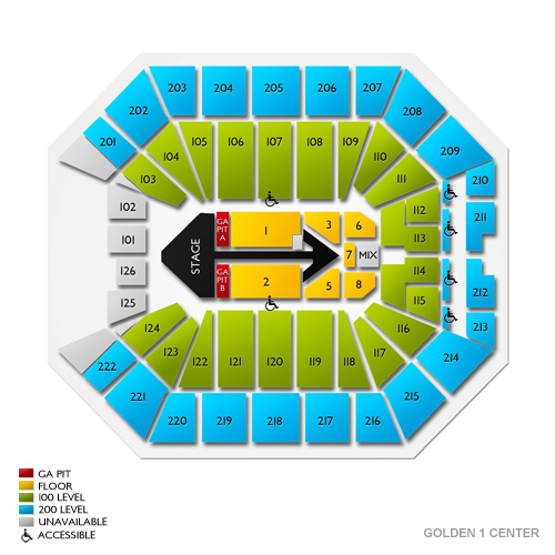 Golden 1 Center Concert Tickets and Seating View | Vivid Seats