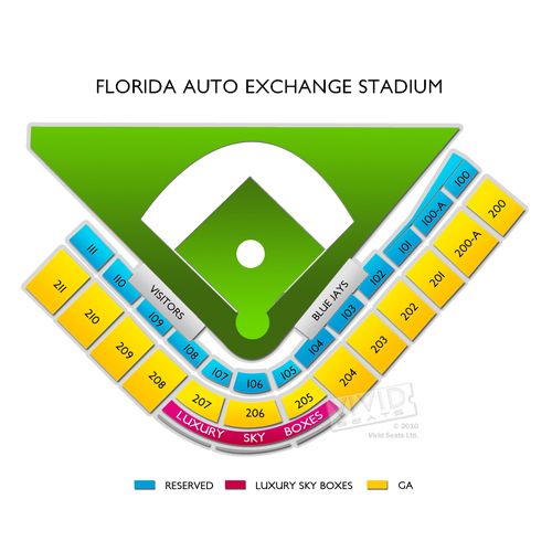 Spring Training Detroit Tigers At Toronto Blue Jays Tickets - Blue jays seating chart