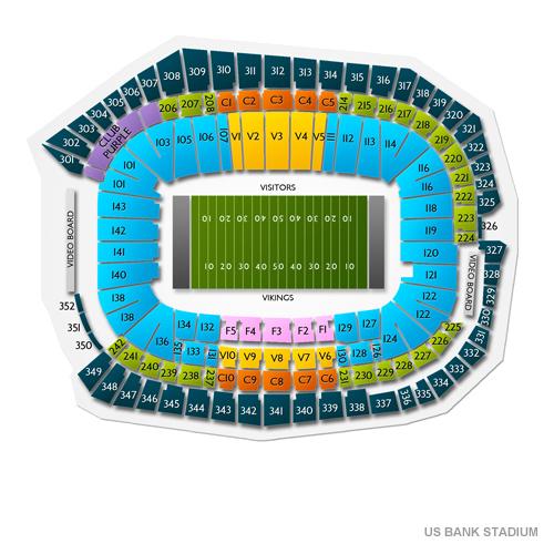 Us Bank Stadium Seat Map