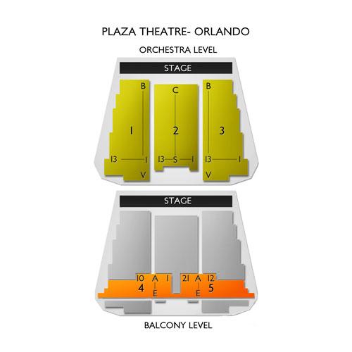 The Plaza Live Theatre Orlando Seating Chart   Vivid Seats