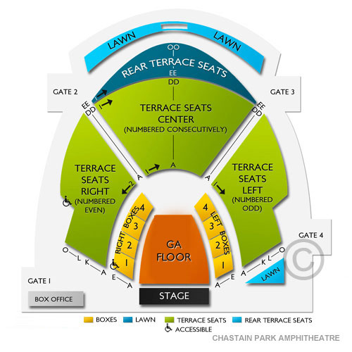 Jon Bellion Atlanta Tickets 6192019 Vivid Seats. Chastain Park Hitheatre. Seat. Chastain Park Seating Diagram At Scoala.co