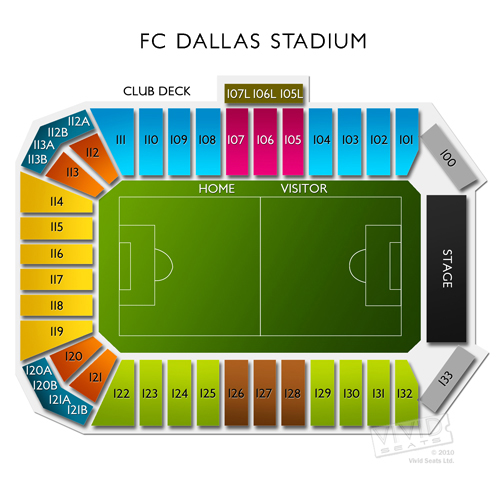 Interactive seating chart toyota stadium frisco toyota stadium