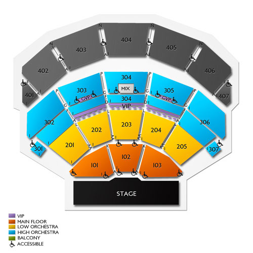 Park Theater At Park Mgm Las Vegas Nv Seating Chart Stage
