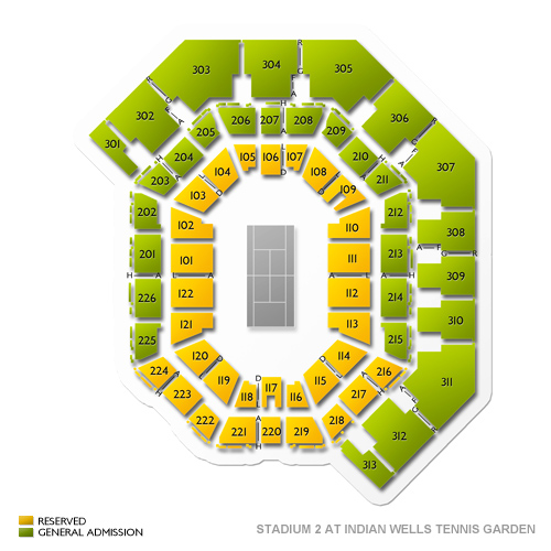 Stadium 2 at Indian Wells Tennis Garden Seating Chart Vivid Seats