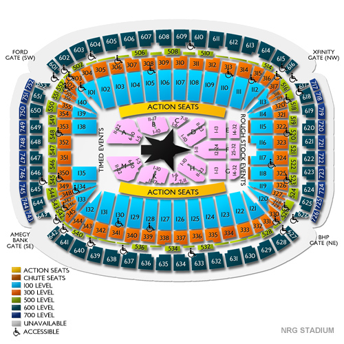 Nrg Rodeo Seating Chart 2019 Nrg Stadium Tickets Football Rodeo
