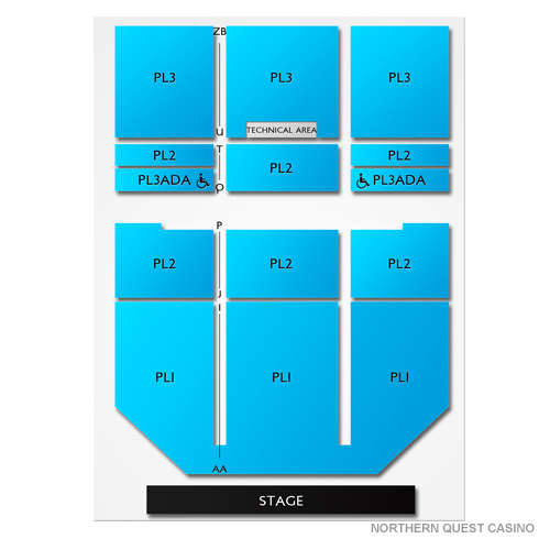 Northern quest casino seating chart salamanca casino hotel rates