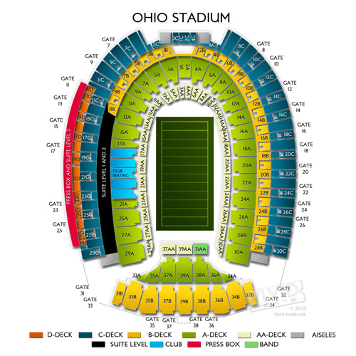 Ohio State Vs Tbd Football Tickets 83118: Ohio State Football Stadium Map At Codeve.org