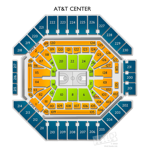 Spurs vs lakers tickets at at t center 3 3 18