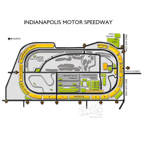 Map of indianapolis motor speedway for The indianapolis motor speedway
