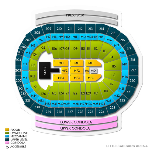 Little Caesars Arena Seating Chart | Vivid Seats