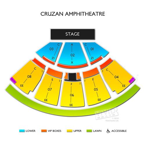 West Palm Beach Amphitheater Seating Chart