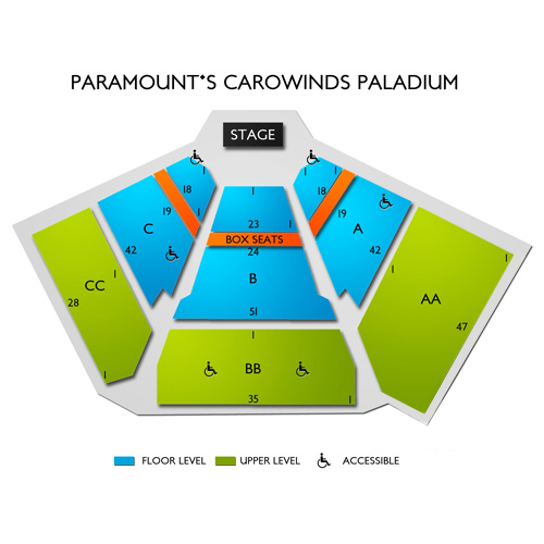 Carowinds Paladium Seating Chart Vivid Seats