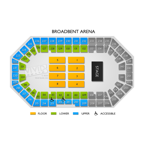 Broadbent Arena Seating Chart Vivid Seats