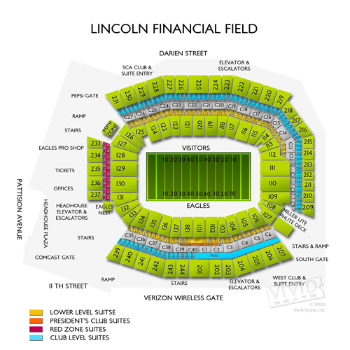 Lincoln Financial Field Concert Seating Chart