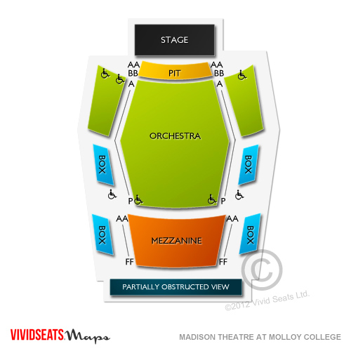 Madison Theatre At Molloy College Seating Chart Vivid Seats