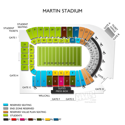 Knitting Factory Boise Seating : Martin stadium seating chart vivid seats