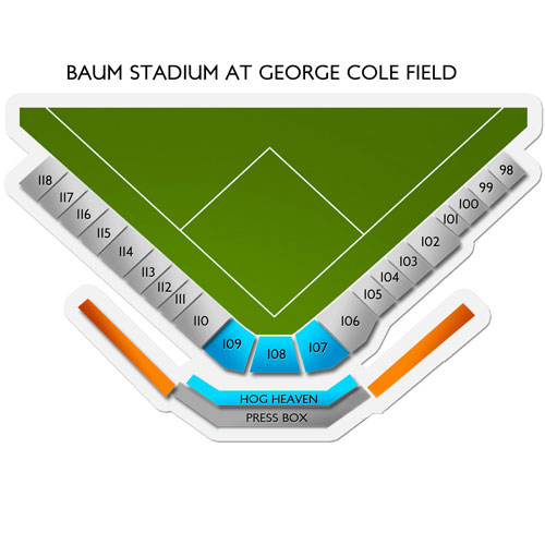 Baum Stadium At George Cole Field Seating Chart Vivid Seats