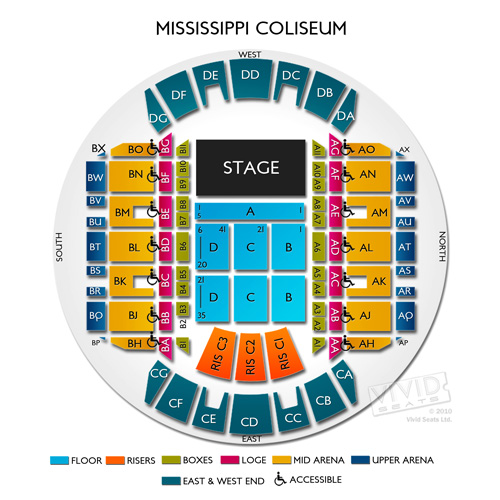 Mississippi coliseum seating chart mississippi coast coliseum