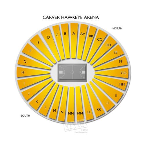 Carver Hawkeye Arena Seating Chart | Vivid Seats