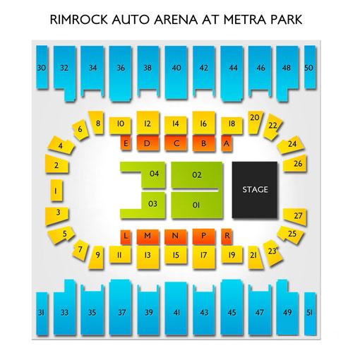 Rimrock Auto Arena At Metra Park Seating Chart