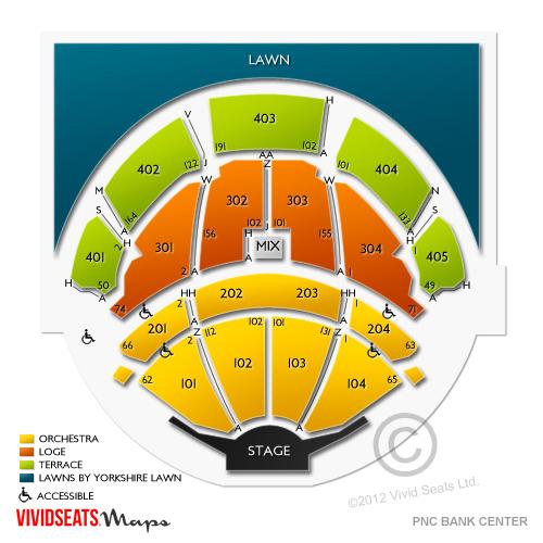 Pnc Bank Arts Center Tickets Vivid Seats