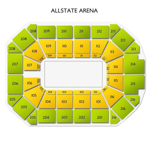 Allstate Arena Floor Plan: Allstate Arena Information