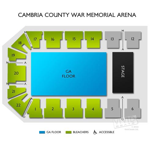 Cambria County War Memorial Arena Seating Chart Vivid Seats