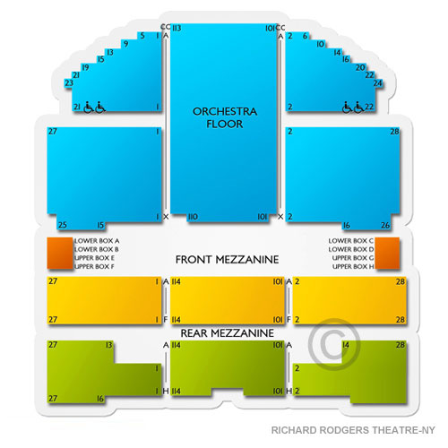 Richard Rodgers Theatre New York Concert Tickets And Seating